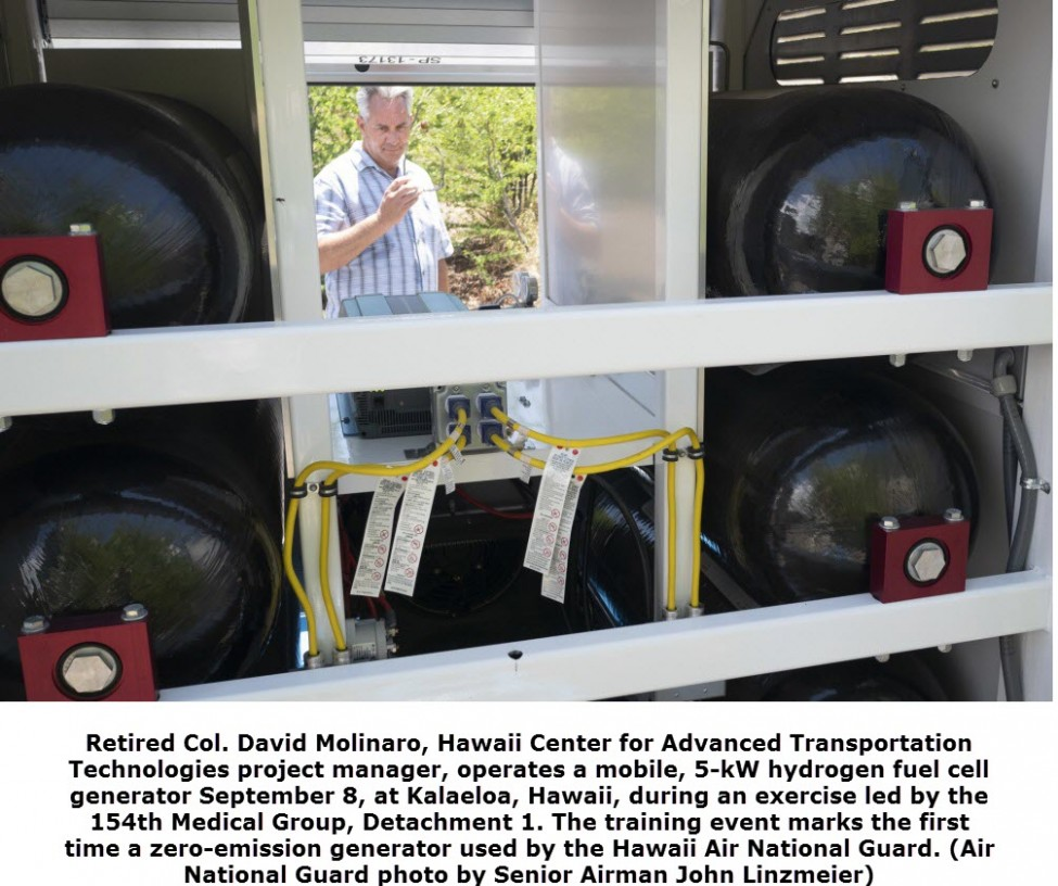 Hydrogen Fuel Cell Power Used for Hawaii Air National Guard Exercise