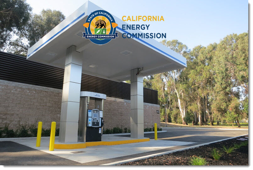 Californial Energy Commission Hydrogen Station with logo
