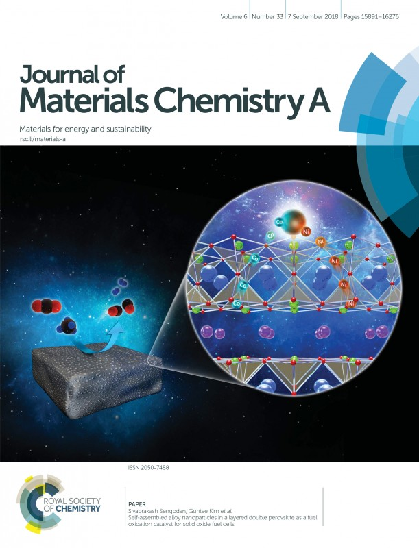 Cover page of Journal of Materials Chemistry A