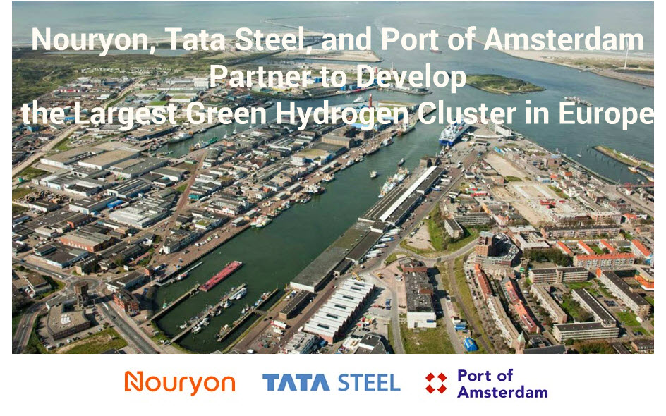 Nouryon, Tata Steel, and Port of Amsterdam Partner to