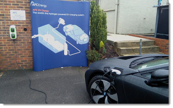 AFCEnergy hydrogen electric vehicle charging 3