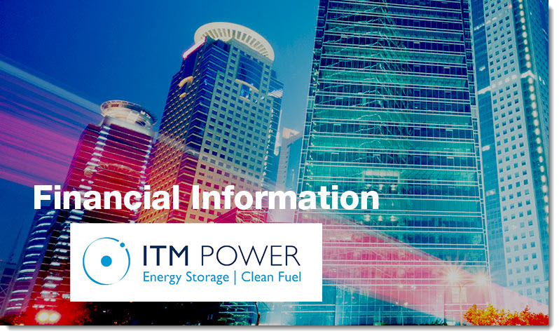 financial information ITM Power 3